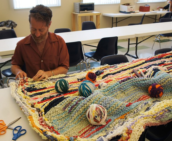 Crochet Jam, Torres Community Shelter, Chico, California  2014  www.chicoshelter.org