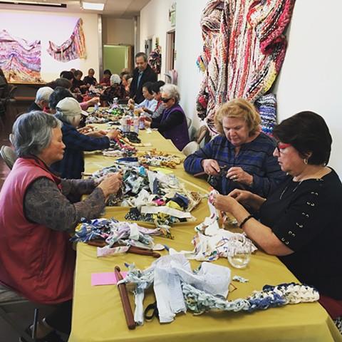Crochet Jam #2, Bethany Senior Center, San Francisco