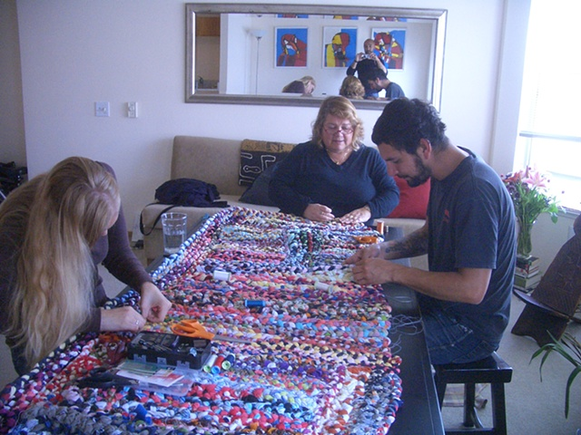 STITCH 2011, a weekly,community-based sewing bee to support The Spirit Tapestry Project