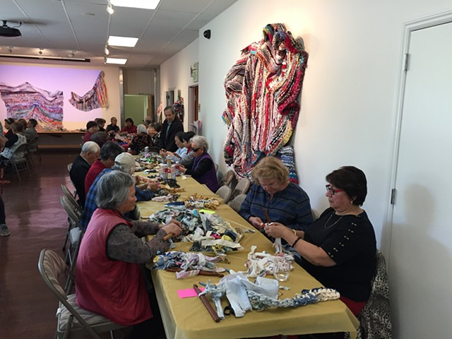 Crochet Jam #2, Bethany Senior Center, San Francisco