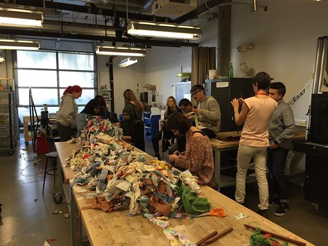Crochet Jam, University of San Francisco's Artist as Citizen | Artist in the Community Program