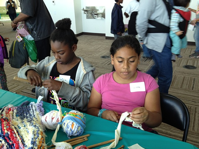 Crochet Jam, SF Art Span, Family Art Day