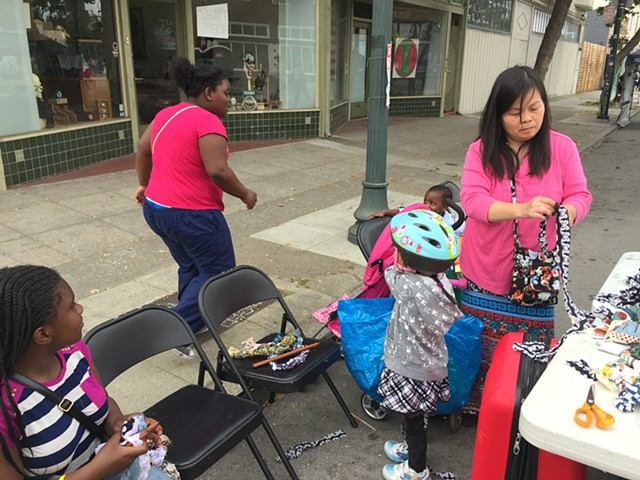 "Crochet Jam, ""Love Our Neighborhood Day Celebration,"" Berkeley, California"
