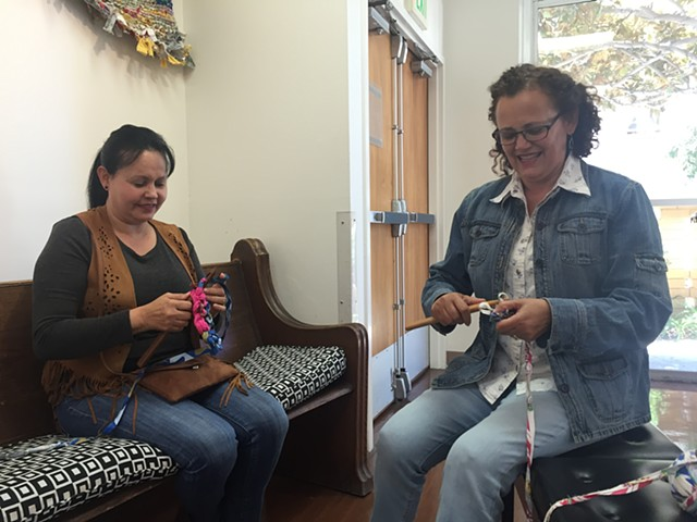 Crochet Jam with Rocio and Gloria, Bethany Center, San Francisco