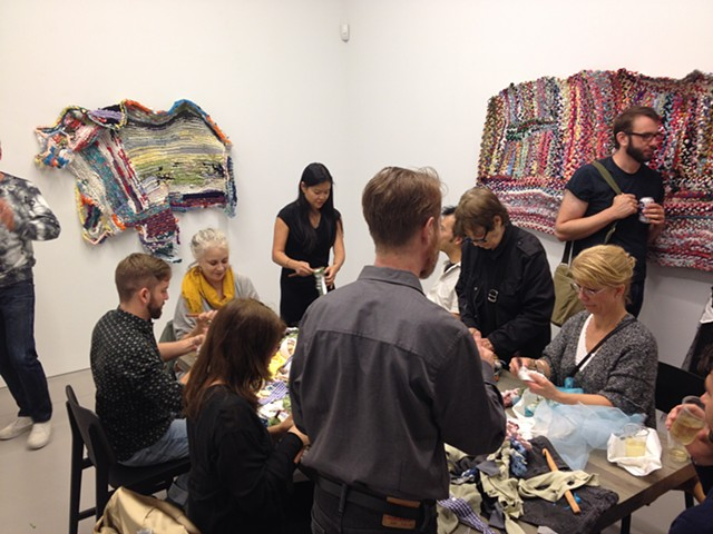 Crochet Jam, Artadia Celebrates 15th Anniversary with Exhibition, Curator: Gianni Jetzer, Longhouse Project, NYC, September 13–October 25, 2014