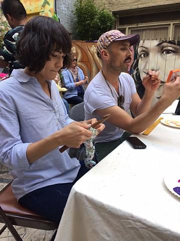 Crochet Jam at Counter Pulse's Block Fest in the Tenderloin National Forest  May 2017