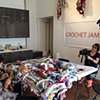 Crochet Jam, Root Division, San Francisco with A'ron Correa, Aaron Grobler, and Documentary Filmmaker Dianne Griffin, www.gypsy.pe/mockup/