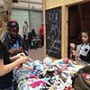 Crochet Jam, Light Up Central Market in conjunction with the Luggage Store Gallery and the Kenneth Rainin Foundation, both in San Francisco