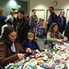 Crochet Jam, Radical Craft Night, Santa Cruz Museum of Art & History, Santa Cruz, California 2014