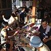 Crochet Jam, Delores Park Cafe, SF sponsored by ArtSpan