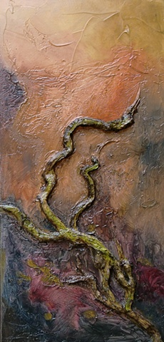 warm tones in a textural image suggesting natural regrowth