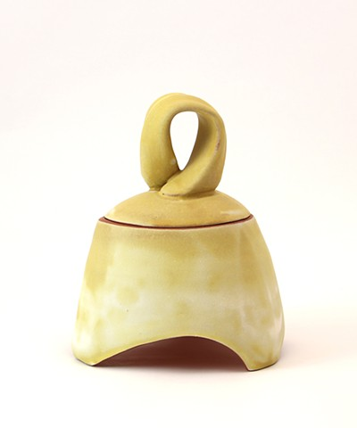 Yellow Lidded Jar