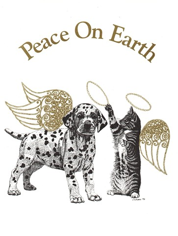 Peace on Earth Season's Greeting National Education for Assistance Dog Services West Boylston, Massachusetts