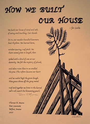 A poetry broadside by Leslie Moore of PenPets