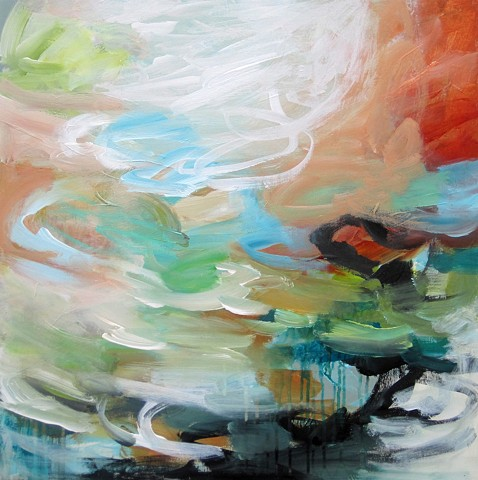 contemporary, organic mixed-media artwork