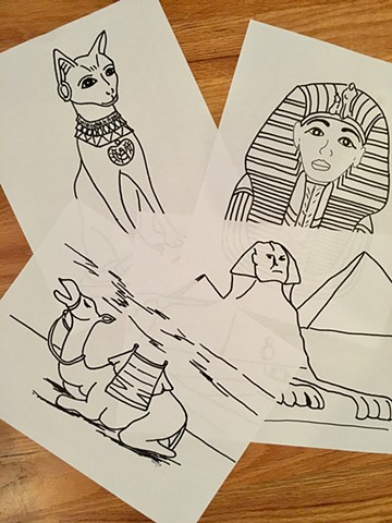 Egyptian Design Coloring Pages