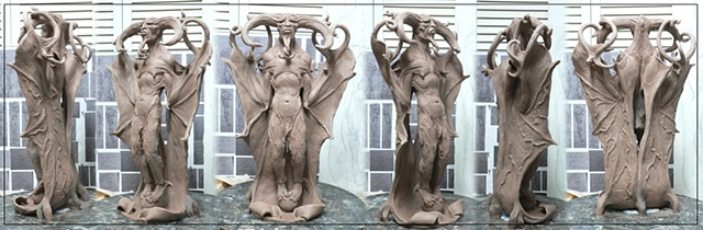 Dark angel sculpture