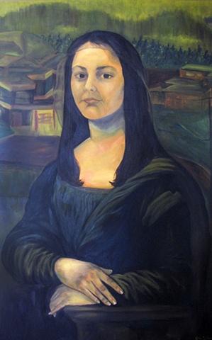 self-portrait as mona lisa