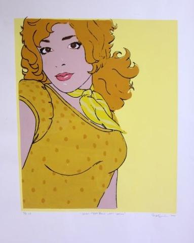 Golden Copper Blond Wears Yellow