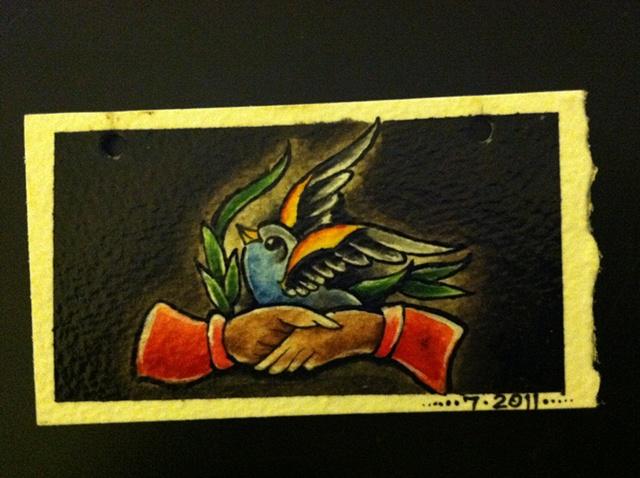 Hands and Bird