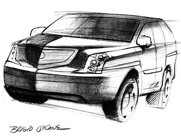 Cadillac Escalade Concept Sketch 07