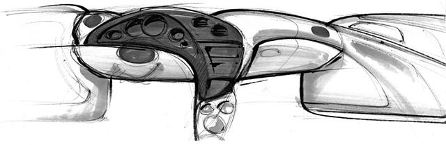 Oldsmobile Intrigue Interior Sketch  Study 13