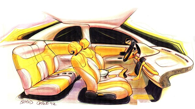 Saturn S-Series Interior Sketch