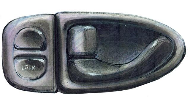 Saturn S-Series Door Pull Concept