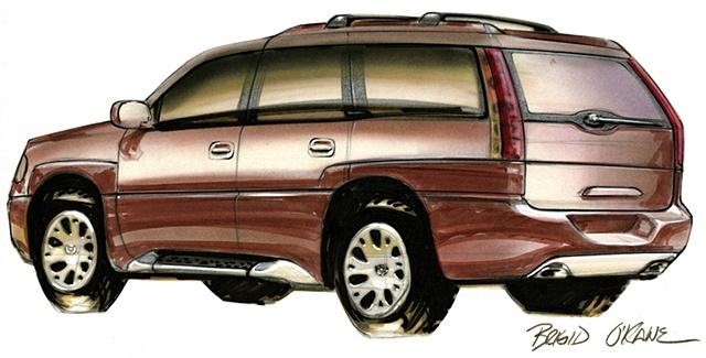 Cadillac Escalade Concept Brown Rear 3/4 View