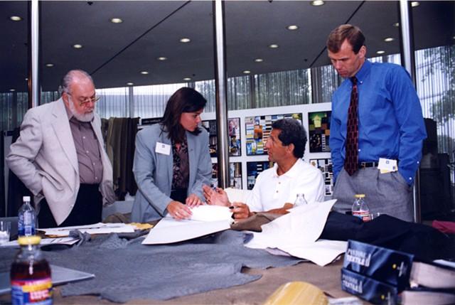 Brigid O'Kane working with Joseph Abboud