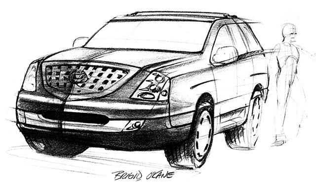 Cadillac Escalade Concept Sketch 02