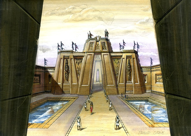 Set Design Concept  Egypt - The Goddess Among Us