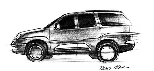 Cadillac Escalade Concept Sketch 05 Side View