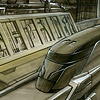 Set Design Concept  Future City with High Speed Train
