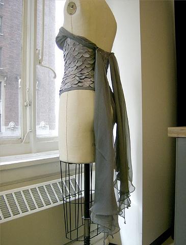 Mermaid corset (back)