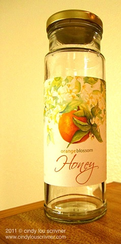 Prototype of Orange Blossom Honey Jar Package Design