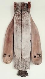 Conny Hatch Ukpik (Snowy Owl) 2014 Found Object Assemblage Turtle Gallery Maine