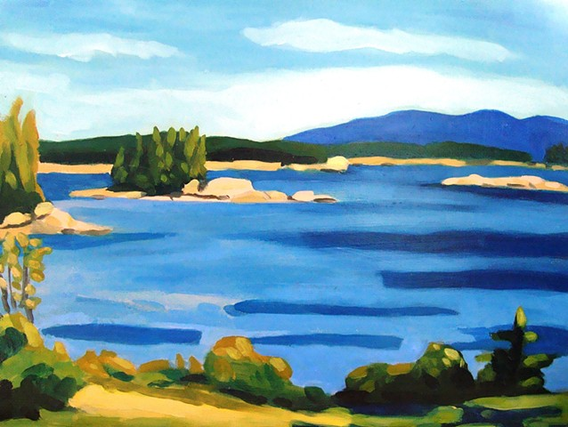 Alix Bacon, artist, oil painting Turtle Gallery, Deer Isle, Maine
