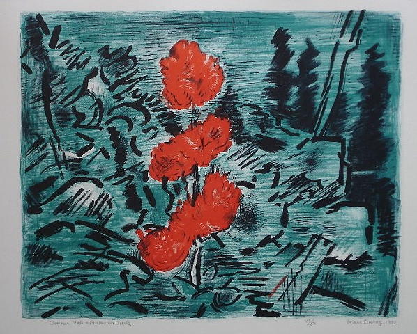 Karl Schrag, artist, printmaker, Turtle Gallery, Deer Isle, Maine, Stonington, Blue Hill, Bar Harbor