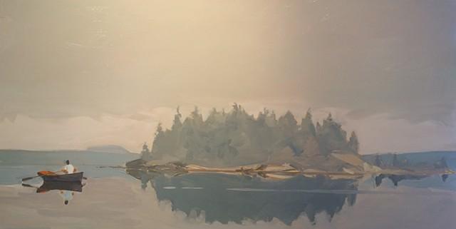 Michael Weymouth, Maine, Deer Isle, The Turtle Gallery, Oil painting, Great Spruce Head Island