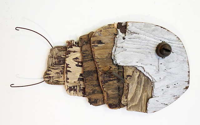 Conny Hatch Qaluk (Large Fish) 2014 Found Object Assemblage Turtle Gallery Maine