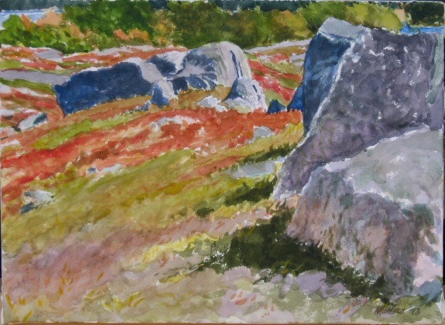Don Mallow, The Turtle Gallery, Deer Isle, Maine, Watercolor, Fine Art