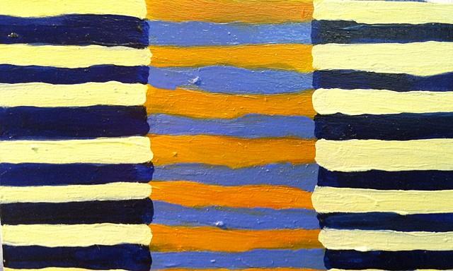 Alix Bacon, artist, oil painting Turtle Gallery, Deer Isle, Maine