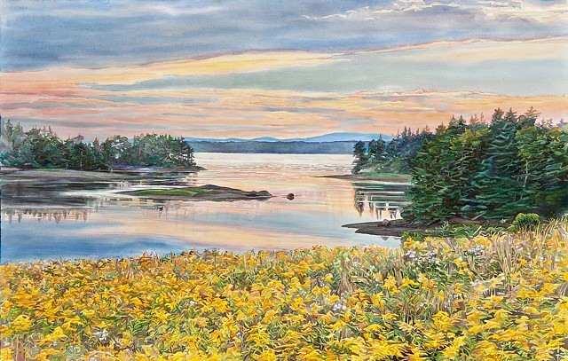 Marjorie Glick, The Turtle Gallery, Deer Isle, Maine, Watercolor, Maine Coast