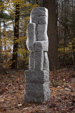 Roy Patterson granite sculpture artist Vestige Turtle Gallery Maine
