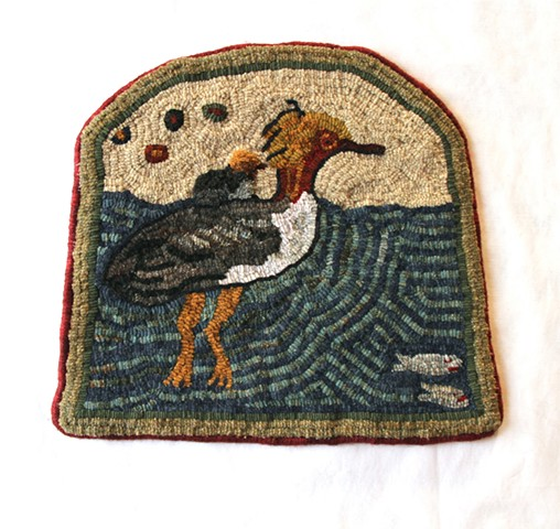 Mary Ann McKellar, The Turtle Gallery, Wool Hooked Rug, Maine, Art