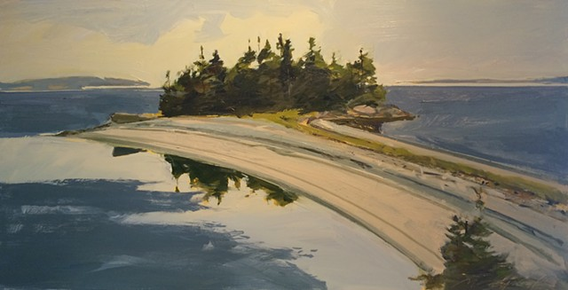 Michael Weymouth, Maine, Deer Isle, The Turtle Gallery, Oil painting, Great Spruce Head Island