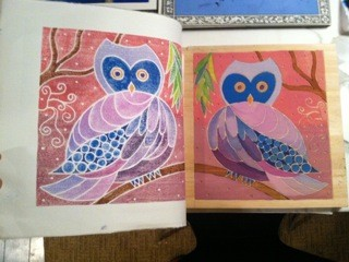 Evening Owl in process