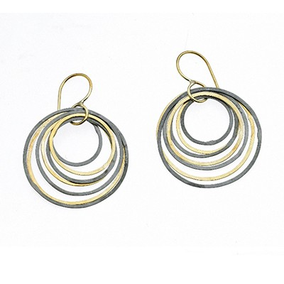 Circle Ripple Earrings
