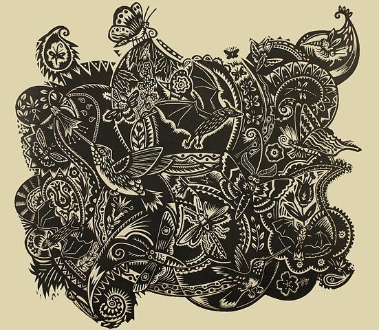 Holly Berry, artist, print, Turtle Gallery, Deer Isle, Maine
